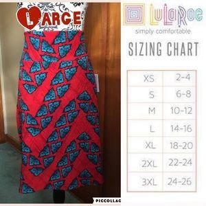 LuLaRoe Large Cassie Pencil Skirt
